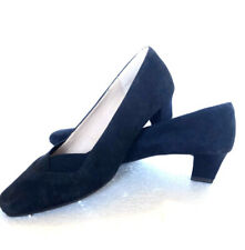 FOOTGLOVE Shoes Size 38 Blue Suede leather Classic Courts UK 5 Elegant Pumps