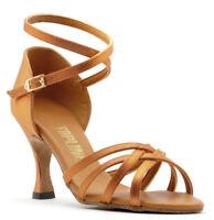 Ladies Tan Or Black Latin Ballroom Dance Shoes By Topline Katz ANNA All Heels