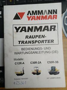 Yanmar C12R-A C30R-2A C50R-3B Bedienungsanleitung und Ersatzteilliste