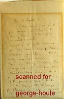JOHN RUSKIN -  LETTER +ENVELOPE - SIGNED -  1860 - JOSEPH HOGARTH