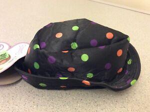 Rubies Pet Shop Black Polka Dot Multi Colored Small Dog Pet Fedora Costume Hat