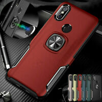 For Xiaomi Redmi Note 7 / 7 Pro Magnetic Ring Stand Armor Case+Car Phone Holder