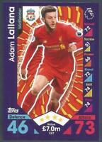 Match Attax Champions League 17//18-190 Liverpool FC Adam Lallana