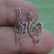 Musical notes Handmade Earrings 925 Sterling Silver