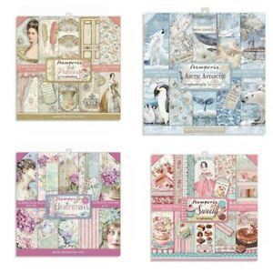 """Stamperia 8"""" x 8"""" Paper Pack 25 DESIGNS - New Release From Stamperia Free UK P&P"""