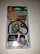 "One Direction 1D Charm Bracelet ""I love Liam"" Black Cord. Sealed Packaging. New"