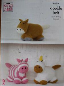 Unicorn /& Pegasus The Winged Horse King Cole Tinsel Chunky Knitting Pattern 9065