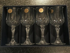 NIB Longchamp Cristal d' Arques Lead Crystal Liqueur Cordial Glass Set of 4
