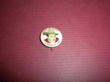 BILLY DEWOLFE Quaker Puffed Wheat & Rice MOVIE STAR pin/pinback 1940's Premium