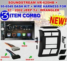 JEEP WRANGLER + TJ 1997 - 2002 DOUBLE DIN DASH BEZEL RADIO STEREO MOUNTING L-KIT