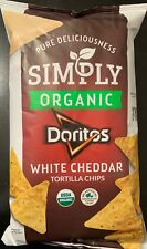 NEW SIMPLY ORGANIC DORITOS WHITE CHEDDAR FLAVORED TORTILLA CHIPS 7 1/2 OZ BAG
