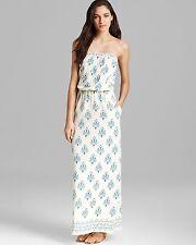 150527 Velvet by Graham & Spencer Anthroplogie Eloise Printed Maxi Tube Dress P