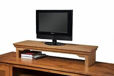 TV Riser Stand Traditional Desk Organizer Storage Box For Computer Laptop