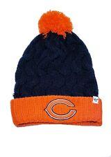 Chicago Bears NFL '47 Cuffed Knit Winter Knit Beanie Hat Pom Youth Blue Orange