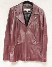 """""""Original Moto"""" Womens Leather Jacket,  Size Medium, Fine Leather"""
