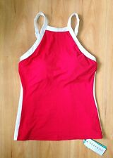 NWT Seafolly Block Party High Neck Singlet Tankini Top Chili Red AU 10 (F47)