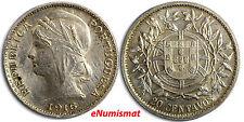 Portugal Silver 1916 20 Centavos aUNC Condition Low Mintage-706,000 KM# 562