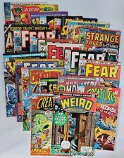 21) 1970s Marvel Comic Book BIG Lot Fantasy Horror W/Astonishing #32 Kirby Ditko