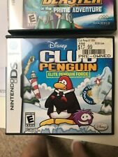 NINTENDO DS MATH BLASTER AND DISNEY CLUB PENGUIN LOT OF 2 GAMES
