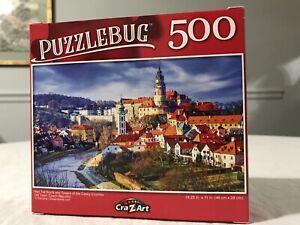 Puzzlebug 500 Piece Puzzle Red Tile Roofs Towers Cesky Crumlov Czech Republic