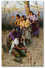 Offerings to the Little People - by Howard Terpning - Textured giclee on canvas