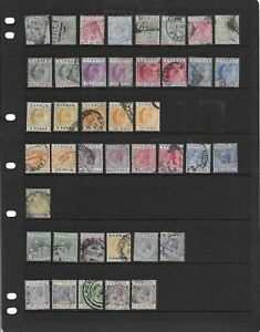 Collection of mixed mostly fine to good used Cyprus stamps (some mint).