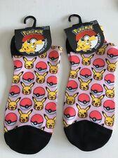 Pokemon trainer socks 4 5 6 7 8 shoe liner noël stocking pikachu poke ball