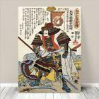 "Vintage Japanese SAMURAI Warrior Art CANVAS PRINT 8x12""~ Kuniyoshi #249"