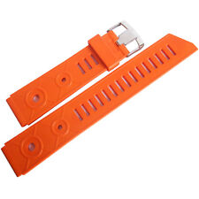 20mm Bonetto Cinturini 281 Orange Rubber Made in Italy Dive Watch Band Strap Men