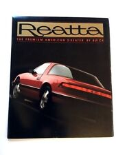 1988 Buick Reatta 24-page Original Car Sales Brochure Catalog