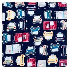 Pottery Barn Kids Duvet Boys Car Blue Truck Bus Taxi Vehicle Full Queen