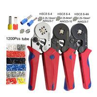 Ferrule Crimping Tool Kit Self-adjustable Ratchet Wire Terminal Crimper Pliers