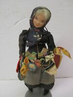 Vintage Antique Ravca Notions Seller Doll Street Seller Woman w/Sewing Notions 8