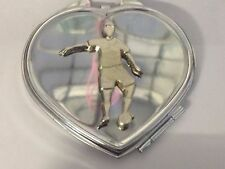 Football Control GT5 Fine Pewter on Heart Shape Compact Mirror