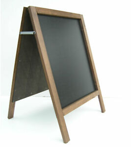 LARGE WOODEN A- BOARD PAVEMENT BOARD SIGN MENU - 100cm x 62cm - WEIGHT 10KG