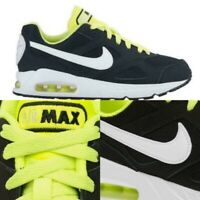 Nike Air Max IVO Trainers Shoes Junior Boys Black Volt UK Size 3 RRP £59.99