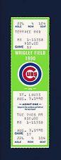 Chicago Cubs vs St. Louis Cardinals 1990 unused ticket - Sandberg homerun #26