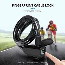 Smart Fingerprint Door Lock Gate Keyless Anti-Theft Security USB Rechargeable