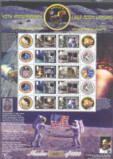Isle of Man-Moon Landing Anniv mnh limited print sheet (0482)Space