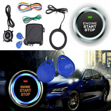 Car Ignition Switch Engine Push Keyless Entry Starter System Kit w/Wire 12V RFID