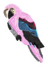 XXL Extra Large Beautiful Sequins Parrot Patch 26cm Iron On Applique