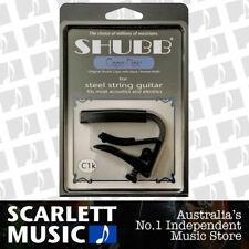 Shubb C1K ( C1-K ) Black Finish Capo For Steel String Acoustic Guitars
