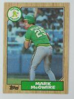 1987 Topps Mark McGwire #366, Oakland Athletics