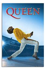 Freddie Mercury Poster Queen At Wembley New