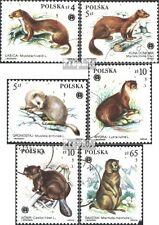 Polen postfrisch 2946-2951 (kompl.Ausg.) 1984 Geschützte Pelztiere