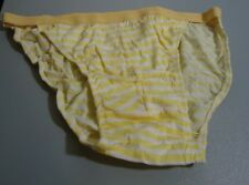 Nos Vtg Gold White Spaulding 100% Cotton Bikini Underwear Briefs M Oldstock