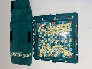 Pocket Travel Scrabble Mattel Hard Case Magnetic Complete