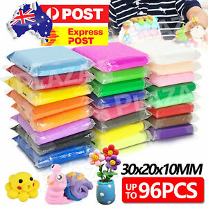 96PCS Craft Oven Bake Polymer Clay Modelling Moulding Sculpey Fimo Block DIY Toy