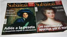 2 REVISTAS SIGLO XXI SUBASTAS Nº 14 MARFIL Y 22 ADIOS A LA PESETA