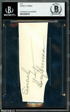 President Harry S. Truman Signed Cut Signature Autographed Beckett BAS AUTO